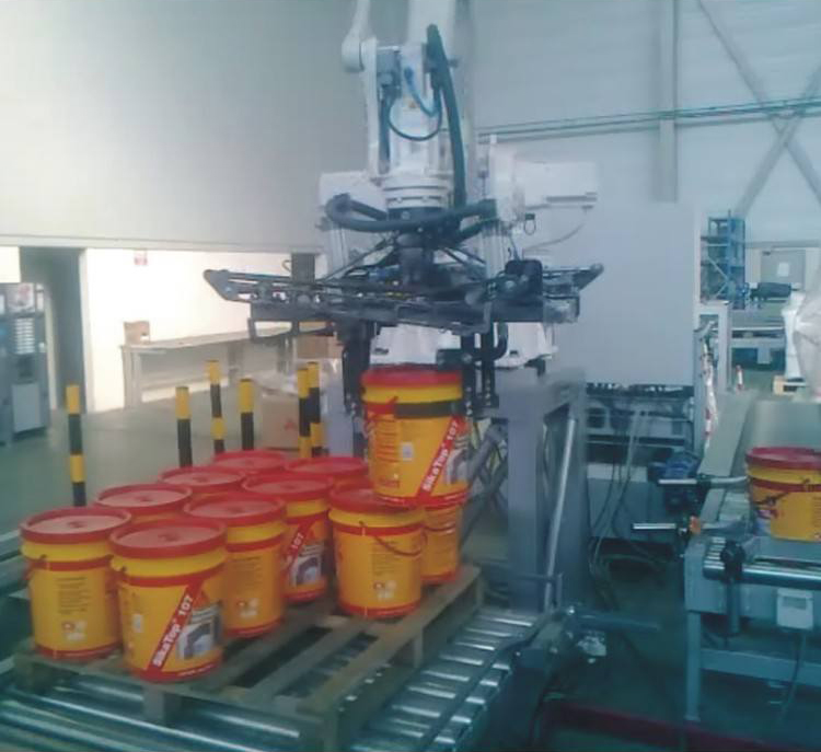 Robot Palletizer System with Clamp Boat STB Engineering