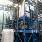 16. Carbon black powder handling & FIBC bulk bag discharge, installed for global rubber component manufacturer.